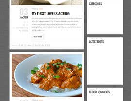 #9 para Design a website mockup for my foodblog (2 pages) por Aloknano