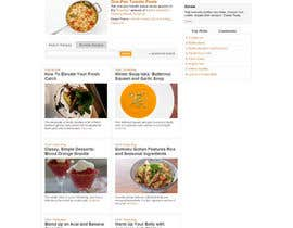 #14 para Design a website mockup for my foodblog (2 pages) por Aloknano