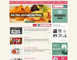 Aloknano tarafından Design a website mockup for my foodblog (2 pages) için no 17