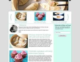 akifkhan75 tarafından Design a website mockup for my foodblog (2 pages) için no 10