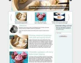 akifkhan75 tarafından Design a website mockup for my foodblog (2 pages) için no 15