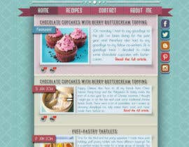 nº 8 pour Design a website mockup for my foodblog (2 pages) par SirSharky