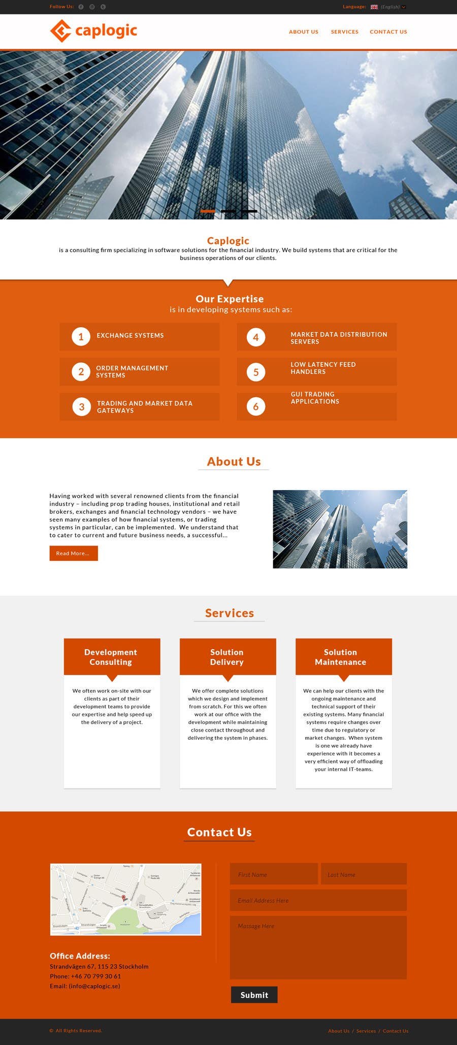 Bài tham dự cuộc thi #10 cho Design a Website Mockup (Logo, Textual Content and Structure is Available)