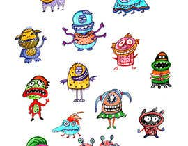nº 32 pour Create monster drawings for mobile game par alinabalan2001