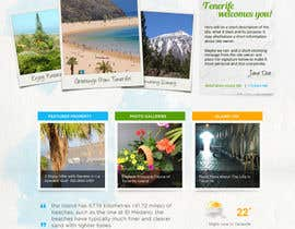 nº 7 pour Design a Website Mockup for a holiday paradise Real Estatate site par cihangir