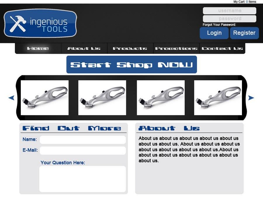 Entri Kontes #28 untukWebsite Design for Ingenious Tools