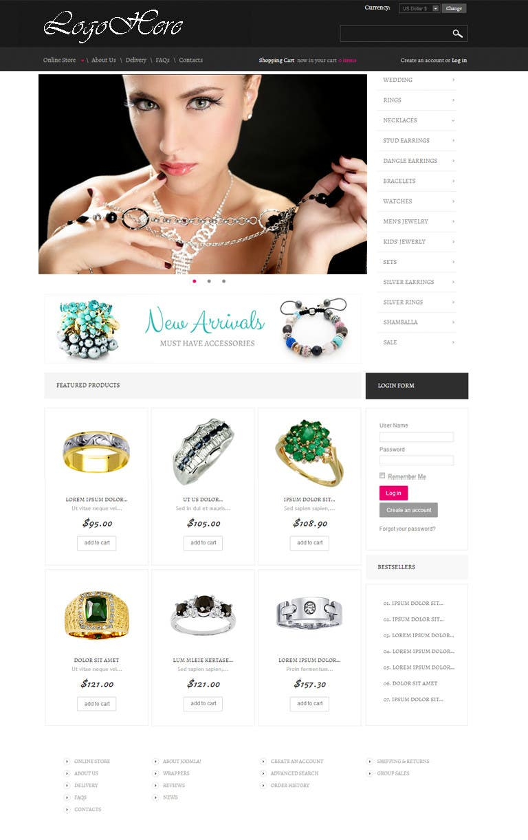 #4 for Website design for a jewellers - Please read the brief. by zicmedia