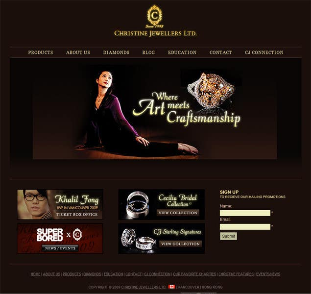 #11 for Website design for a jewellers - Please read the brief. by Mizanurahman1