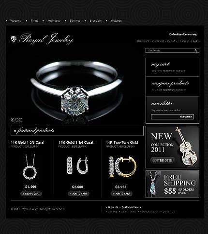 #17 for Website design for a jewellers - Please read the brief. by Mizanurahman1