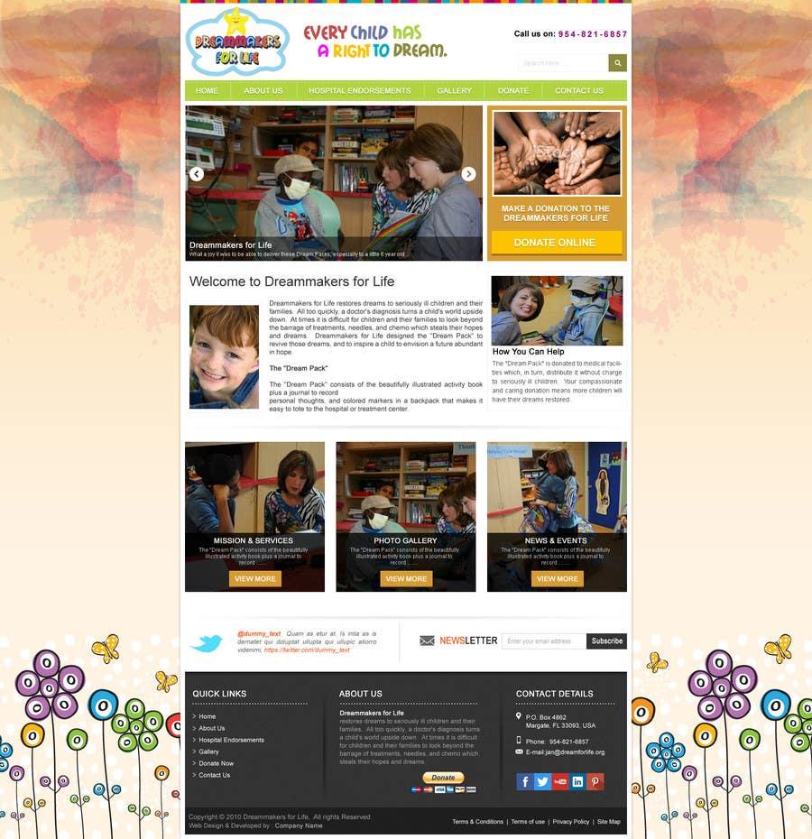 Proposition n°29 du concours Design a Website Mockup for http://dreamforlife.org/