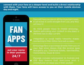 #5 para Create Flyer / Fact sheet for Fan Apps por garbagedump