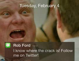 "#5 for ""Rob Ford"" text message by thewoolsinator"