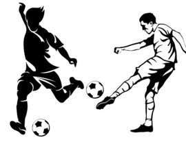 Nro 106 kilpailuun Illustration Football Player käyttäjältä hiteshtalpada255