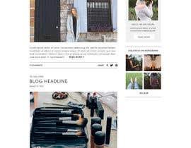 #38 para Fashion Blog Template por ClaudiaWind