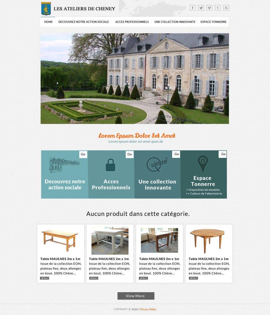 Proposition n°11 du concours Design a Website Mockup for Ateliers de Cheney