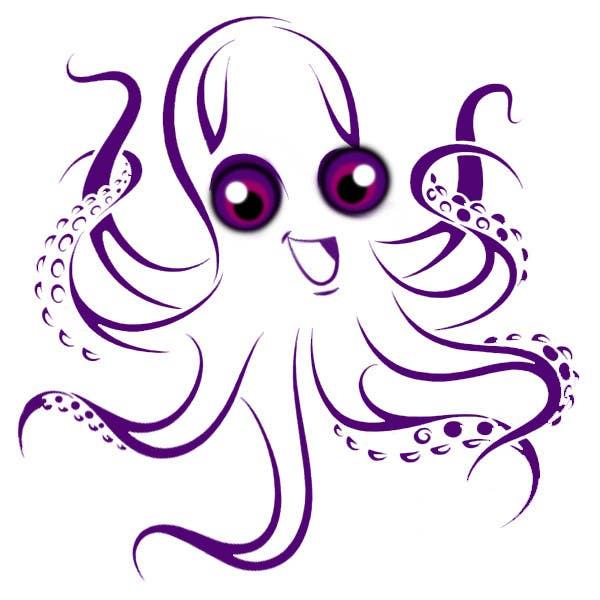 Kilpailutyö #179 kilpailussa Design a Logo of a cartoon octopus