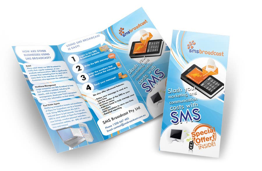 Contest Entry #                                        14                                      for                                         Brochure Design for SMS Broadcast