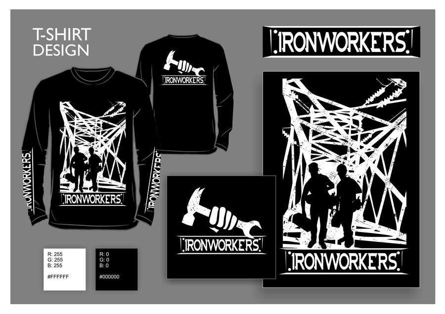 Penyertaan Peraduan #6 untuk Design a T-Shirt for ironworkers members