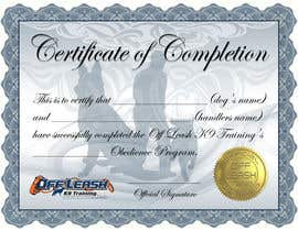 #22 para Design a Certificate of Completion For Dog Training Business por BrandtGraphix