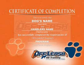 #66 untuk Design a Certificate of Completion For Dog Training Business oleh dalizon