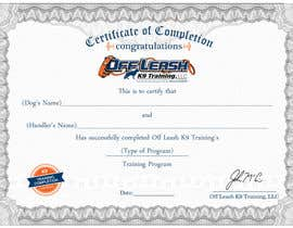 #69 untuk Design a Certificate of Completion For Dog Training Business oleh oceanpixels