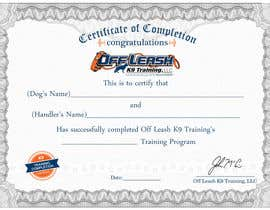 #70 cho Design a Certificate of Completion For Dog Training Business bởi oceanpixels