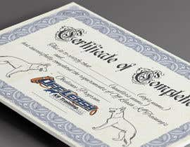 #61 untuk Design a Certificate of Completion For Dog Training Business oleh AndersonLipa7