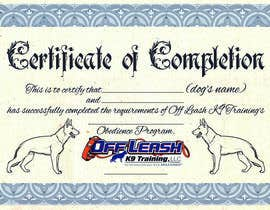 #68 untuk Design a Certificate of Completion For Dog Training Business oleh AndersonLipa7
