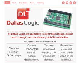 #11 untuk Design a Website Mockup for Dallas Logic Corporation oleh SuciuBogdan