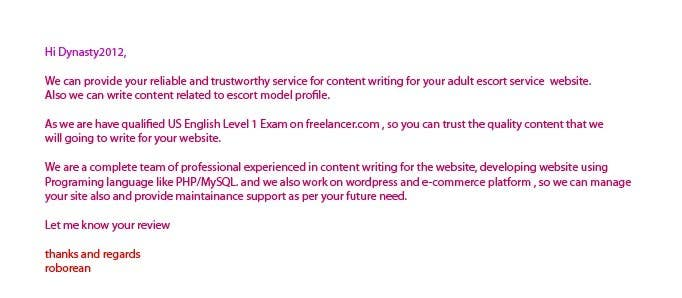 Contest Entry #15 for Content Writing for adult sites