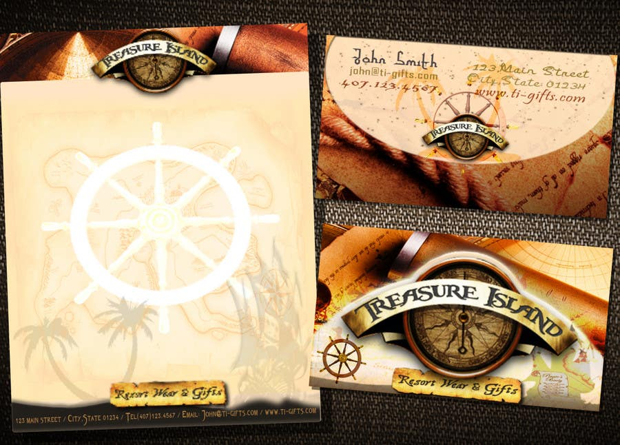 Contest Entry #74 for Business Card Design for Treasure Island Resort Wear & Gifts