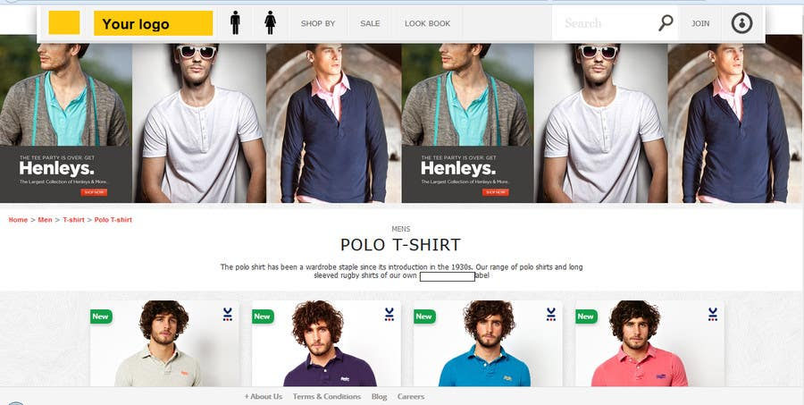#1 for eCommerce website design and logo by mayurrokade