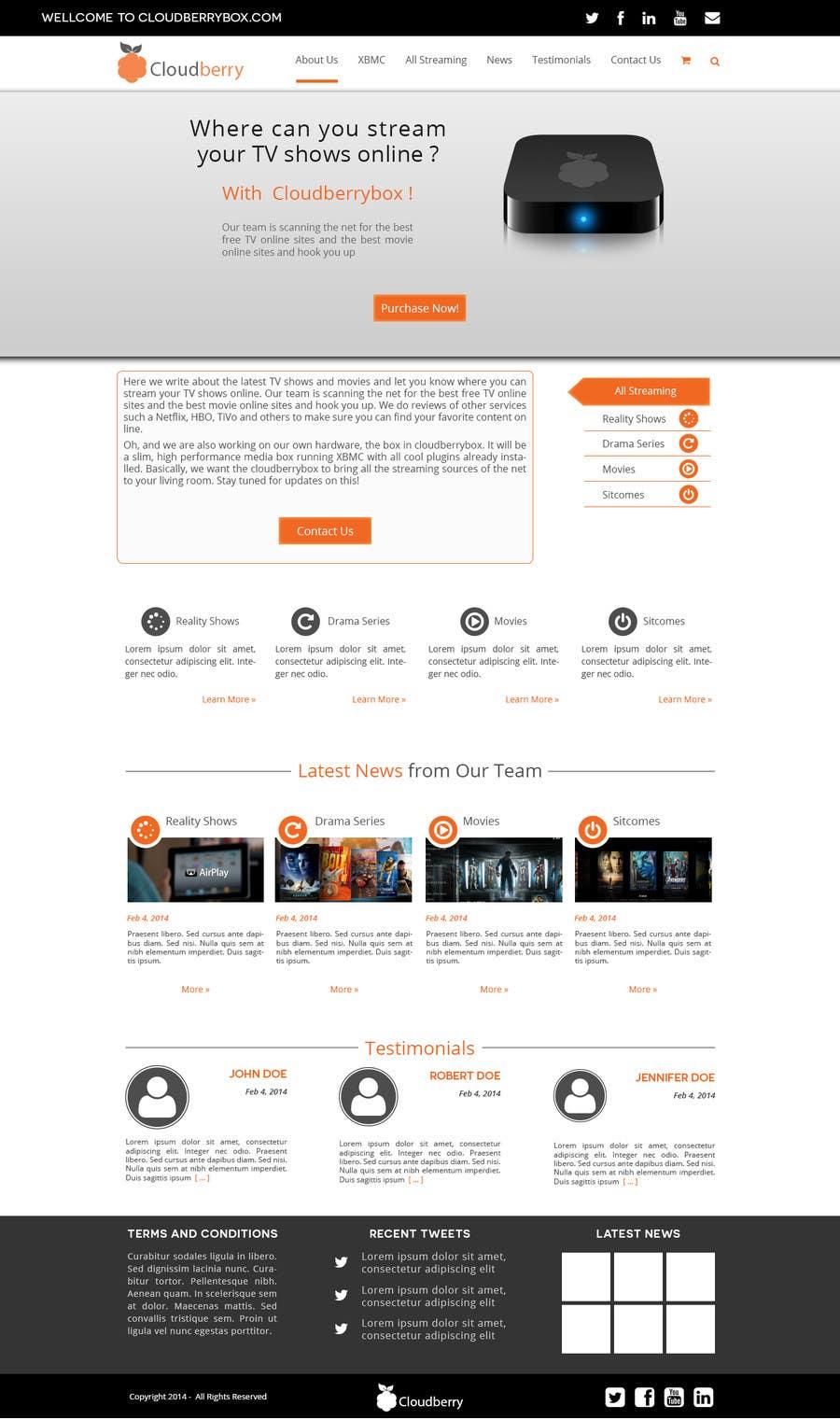 Inscrição nº 21 do Concurso para Design a Website Mockup for Cloudberry mediabox
