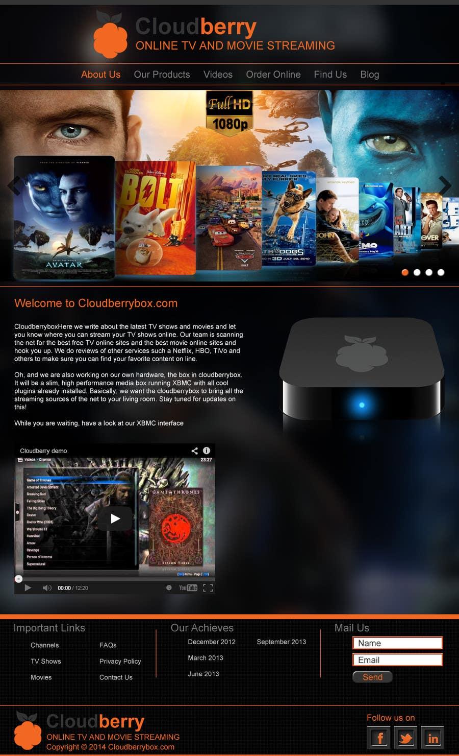 Inscrição nº 16 do Concurso para Design a Website Mockup for Cloudberry mediabox