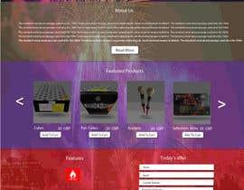 Nro 7 kilpailuun Design a WordPress Mockup Fireworks Store käyttäjältä rajbevin
