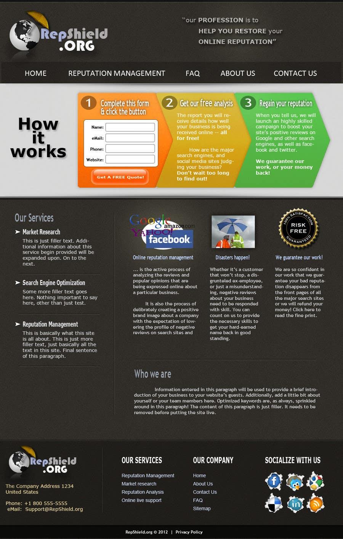 Bài tham dự cuộc thi #                                        44                                      cho                                         Wordpress Theme Design for RepShield.org