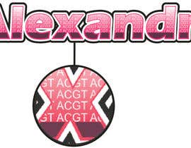 #28 para Design a Logo for the name ALEXANDRA por anibaf11