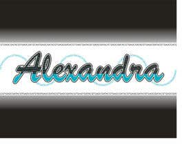 #37 for Design a Logo for the name ALEXANDRA by anibaf11
