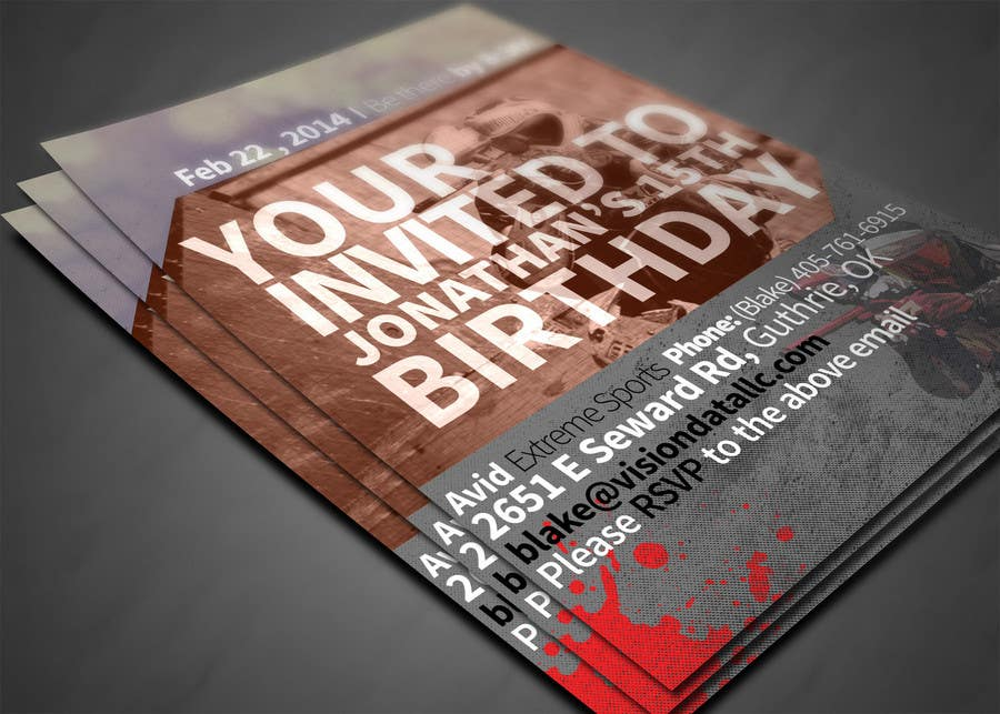 #56 for Design a Flyer for a birthday party by OGW