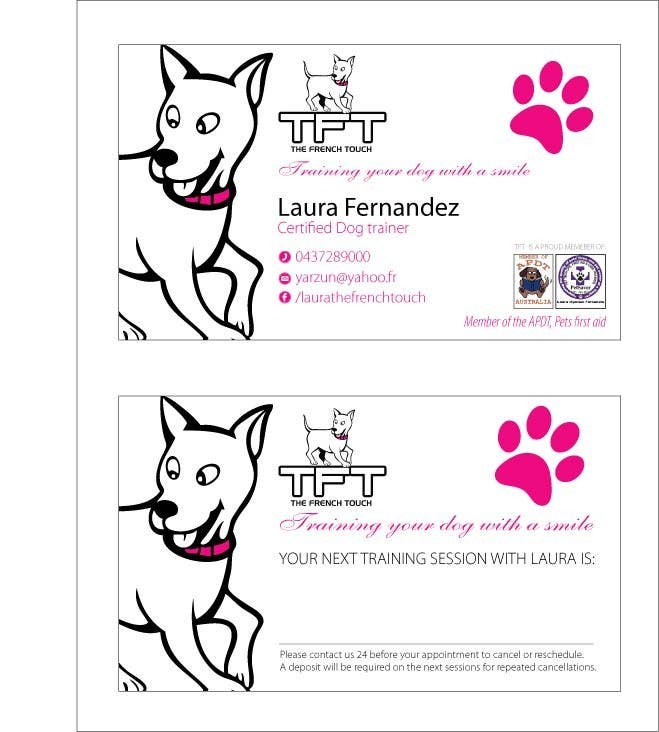 Entry #96 by amcgabeykoon for Design some Business Cards for a dog ...