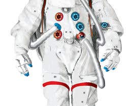 #18 para Illustrate/design a realistic Astronaut for printing por Headnhand