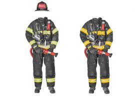 nº 3 pour Illustrate/design a realistic fireman for printing par iglian