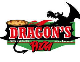 #35 untuk Develop a new logo for Dragon's Pizza oleh carlamartire