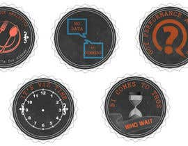 #9 for Design 4 (four) pieces of artwork to be used as badges / button pins af dhonivenkat
