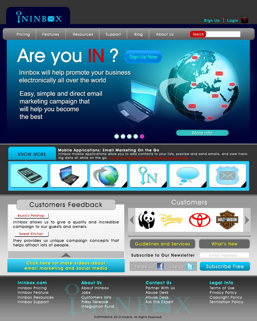 Penyertaan Peraduan #                                        36                                      untuk                                         Website Design for ininbox.com
