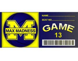 #11 para Design a Basketball Ticket to be used as a place card for party por tanujsarkar