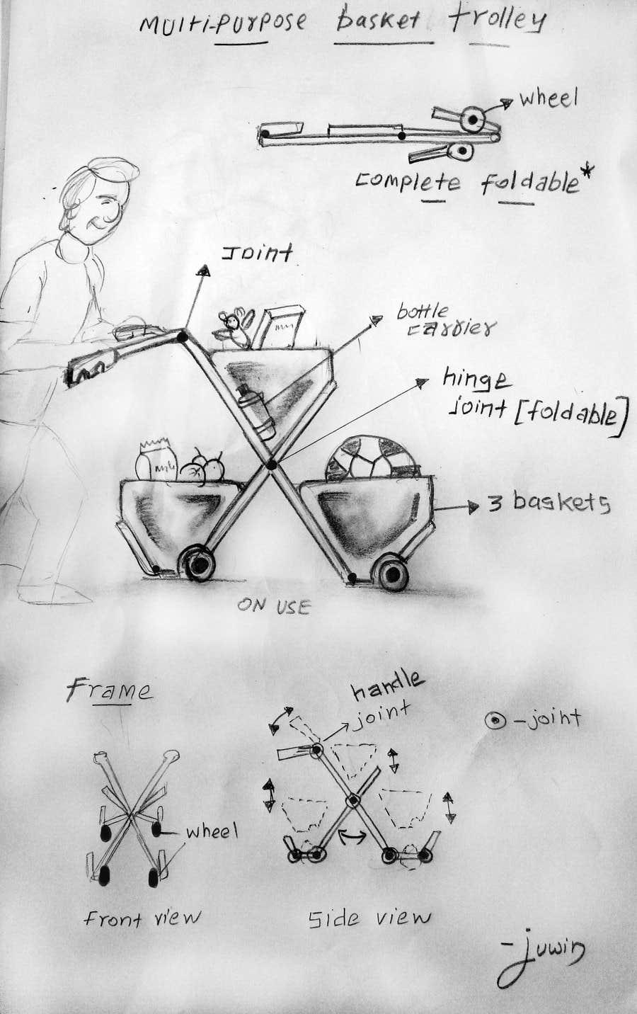 #3 for multi-purpose basket trolley by juwin305