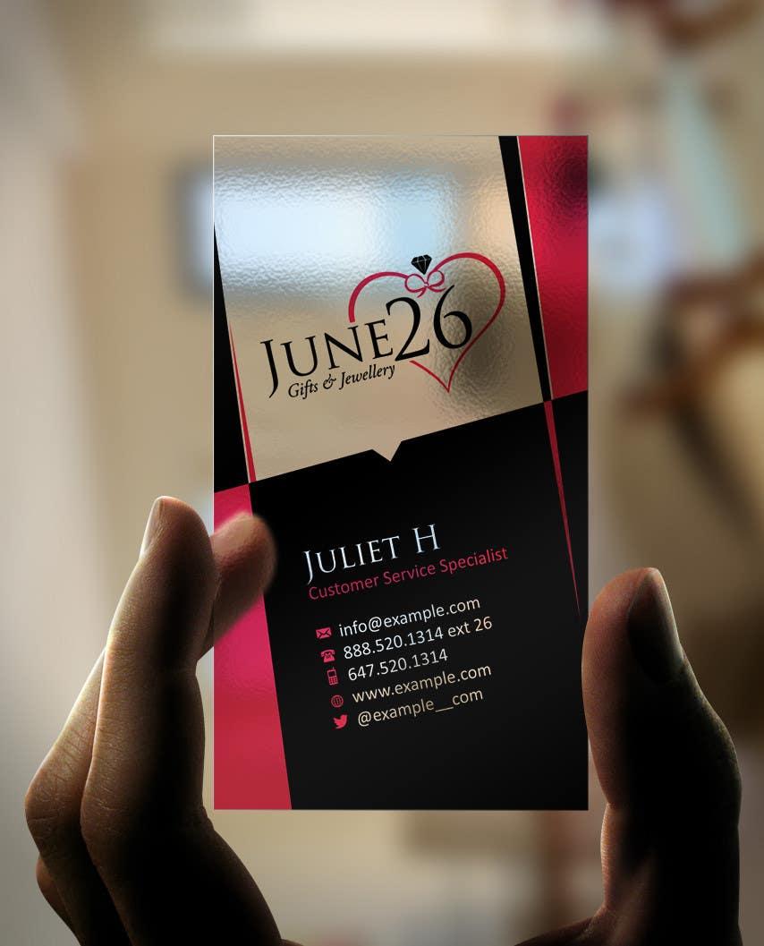 Inscrição nº 15 do Concurso para Gifts & Jewellery Couple Store 2 Business Card Design