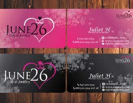 TheDesignA tarafından Gifts & Jewellery Couple Store 2 Business Card Design için no 7