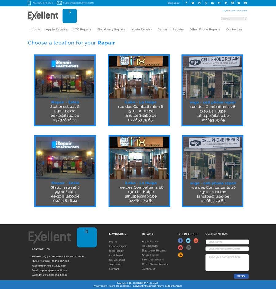 Kilpailutyö #14 kilpailussa Ontwerp een Website Mockup for repair site